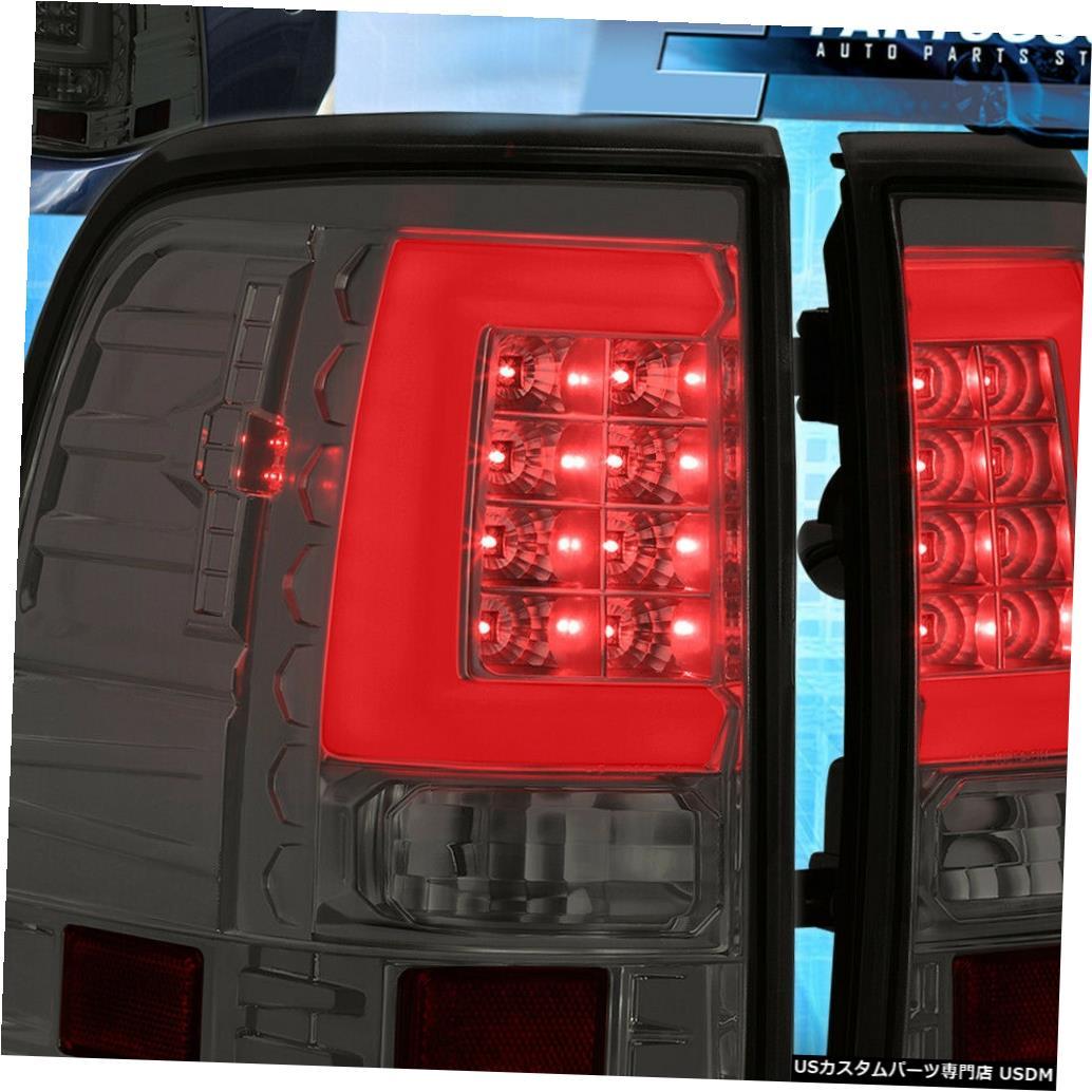 テールライト 2002 2003 2004 2005フォードエクスプローラーホワイトLedチューブ用スモークテールライトランプ Smoke Tail Lights Lamps For 2002 2003 2004 2005 Ford Explorer White Led Tube