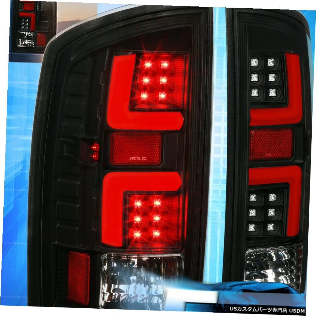 テールライト 02-06ダッジラム1500 2500 3500ブラック/レッドLEDチューブテールブレーキライトランプ For 02-06 Dodge Ram 1500 2500 3500 Black / Red LED Tube Tail Brake Lights Lamps
