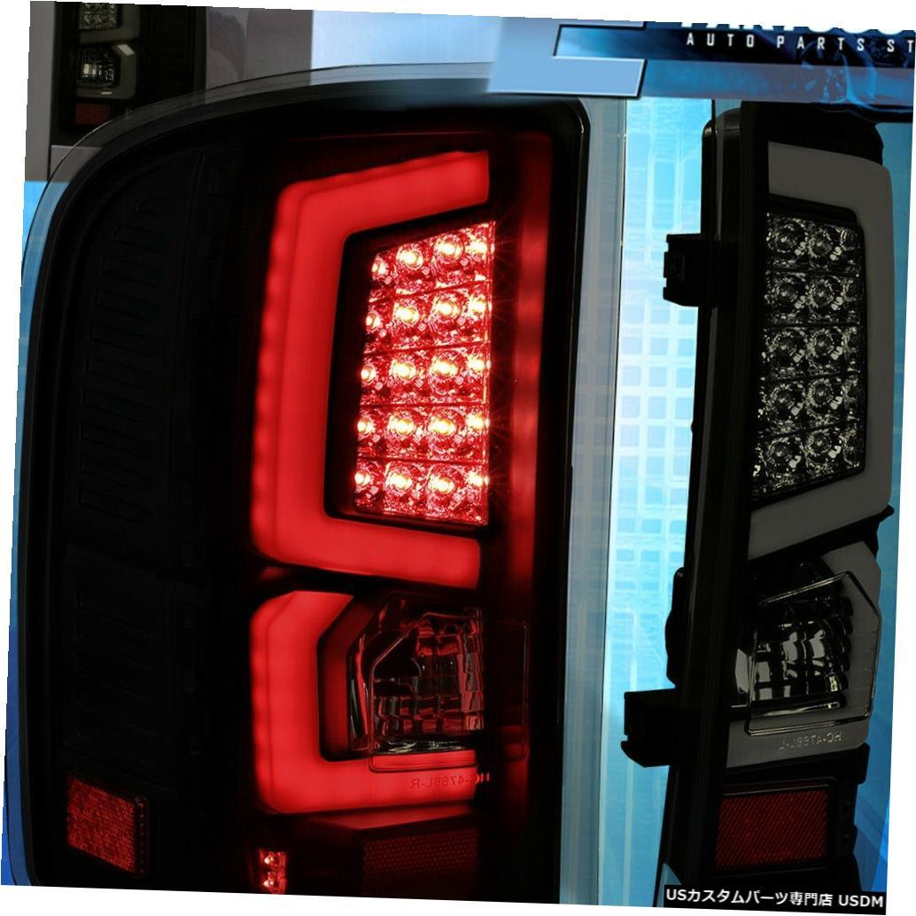 テールライト 07-13シルバラードLh Rh Ledバースモークテールライトランプ交換アセンブリ For 07-13 Silverado Lh Rh Led Bar Smoked Tail Lights Lamp Replacement Assembly