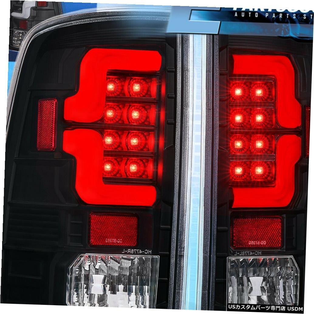 テールライト 2009-2018ダッジラム1500 2500 3500ブラックハウジングホワイトLedテールライトランプ For 2009-2018 Dodge Ram 1500 2500 3500 Black Housing White Led Tail Light Lamp