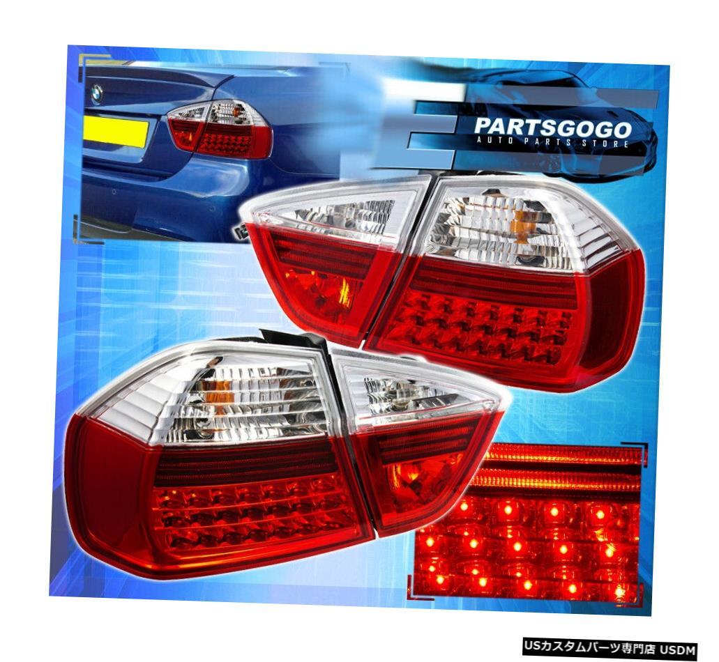 テールライト 05-08 Bmw 3-Series 325I 328I 330I E90 Sedan 4 Dr Euro Led Red Clear Tail Lights 05-08 Bmw 3-Series 325I 328I 330I E90 Sedan 4 Dr Euro Led Red Clear Tail Lights