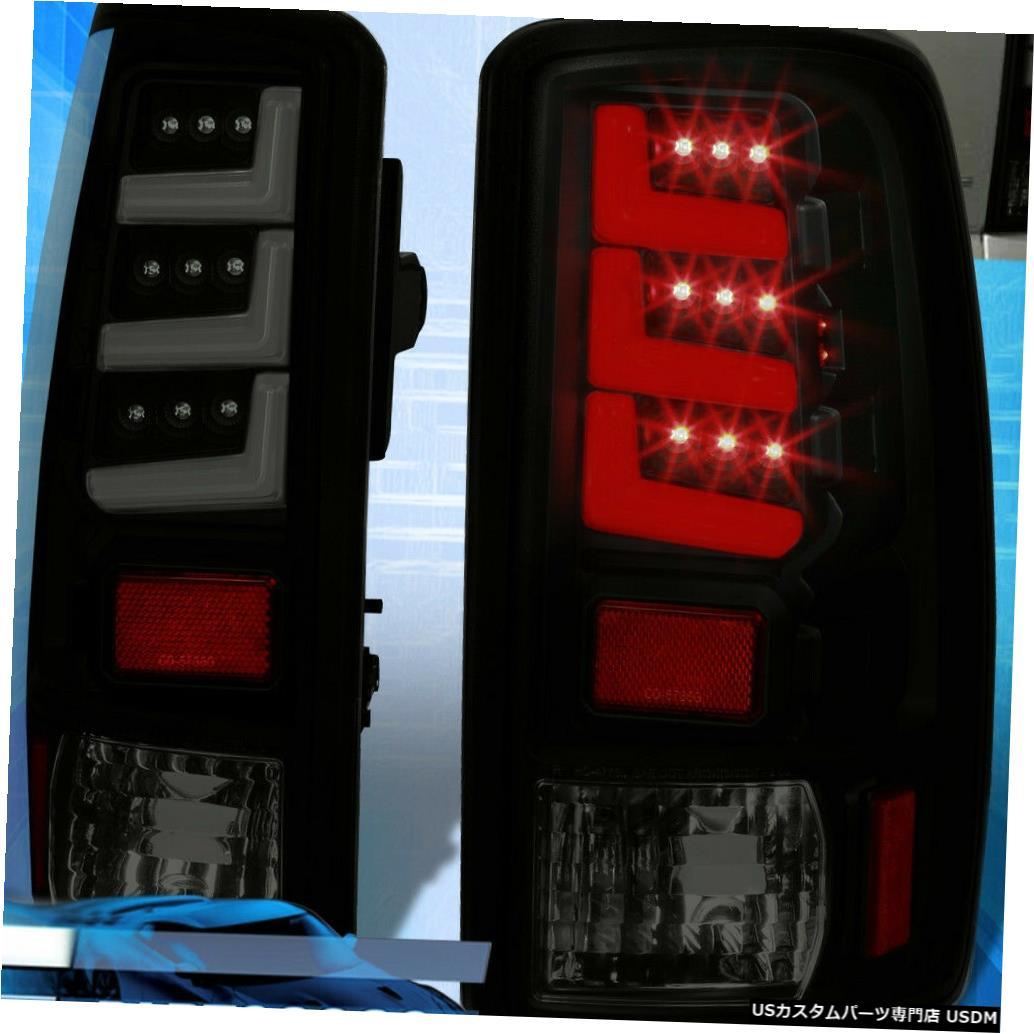 テールライト 00-06ユーコンタホ郊外LEDテールライトブレーキランプダークブラックスモークセット For 00-06 Yukon Tahoe Suburban LED Tail Lights Brake Lamps Dark Black Smoked Set