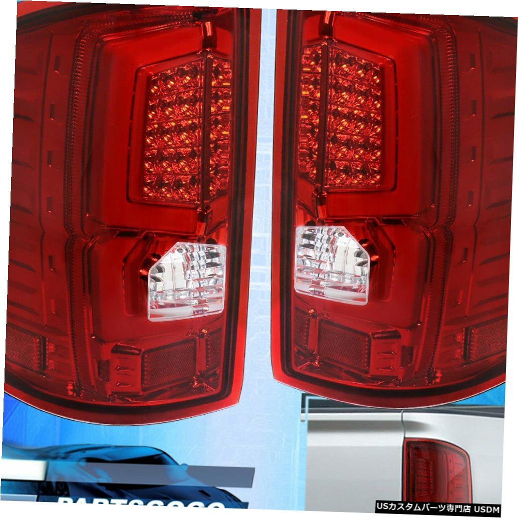 テールライト 2014-2018 GMC Sierra 1500 2500赤色LEDチューブリアテールライトランプアセンブリ用 For 2014-2018 GMC Sierra 1500 2500 Red LED Tube Rear Tail Lights Lamps Assembly