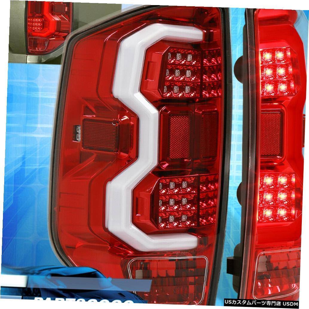 テールライト 14-20トヨタツンドラレッドハウジングクリアレンズLEDチューブストリークテールライトランプ用 For 14-20 Toyota Tundra Red Housing Clear Lens LED Tube Streak Tail Lights Lamps