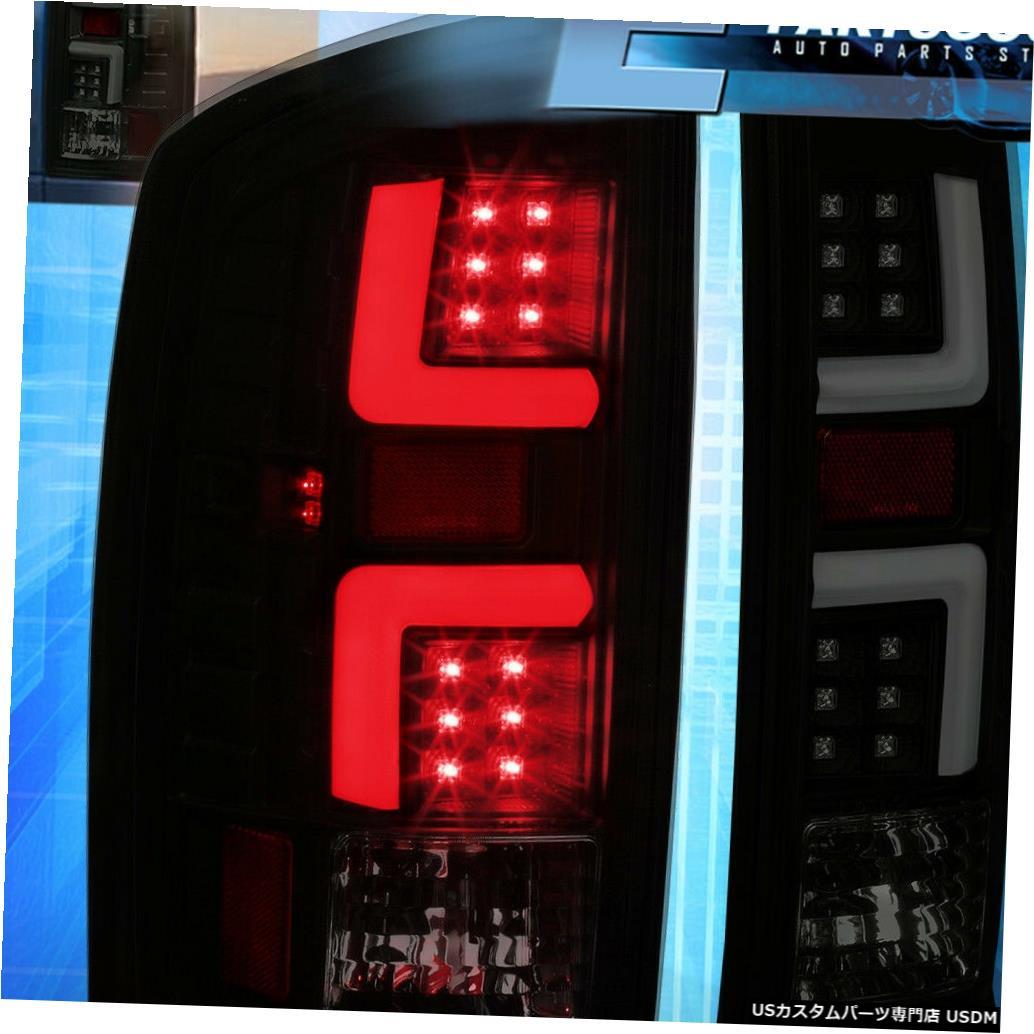 テールライト 2007-2009ダッジラム1500/2500/3500スモークレンズLedチューブテールライトランプセット For 2007-2009 Dodge Ram 1500/2500/3500 Smoked Lens Led Tube Tail Light Lamps Set