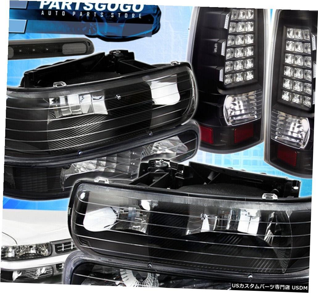 <title>車用品 バイク用品 >> パーツ ライト ランプ ブレーキ テールランプ テールライト 99-02シボレーブラックヘッドライト+バンパーライト+テールライト+サードブレーキランプ 99-02 Chevy Black Headlight + Bumper Lights+Led Tail Lights+Third NEW ARRIVAL Brake Lamps</title>