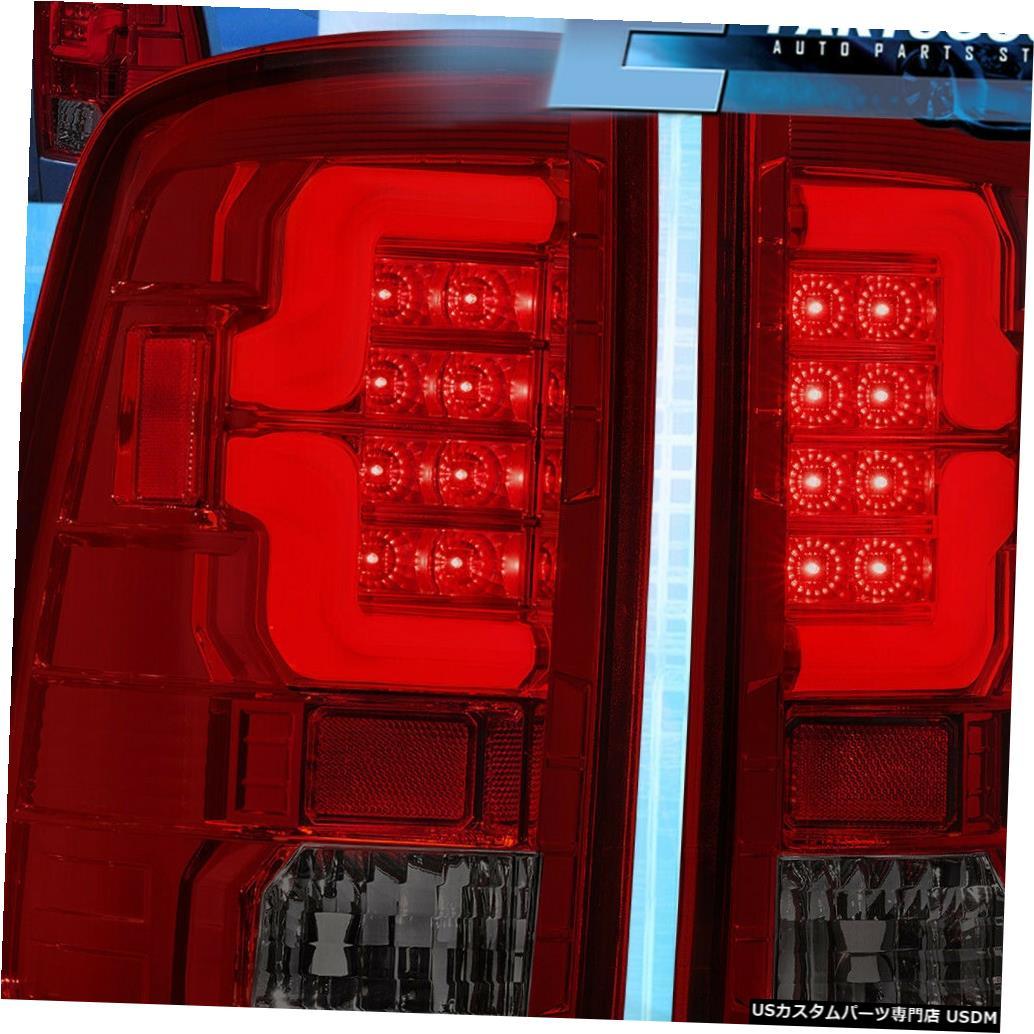 テールライト 2009-2018ダッジラム1500 2500 3500煙赤レンズLedテールライトブレーキランプ For 2009-2018 Dodge Ram 1500 2500 3500 Smoke Red Lens Led Tail Light Brake Lamps
