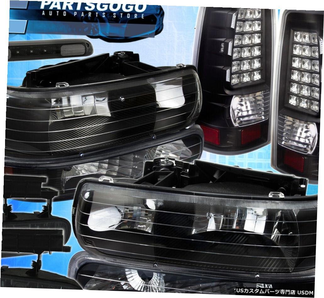 テールライト 99-02シボレーヘッドライト+バンパーライトアンバー+ブレーキランプ+フォグライト+テールライト 99-02 Chevy Blk Headlight+Bumper Light Amber+Brake Lamps+Fog Light+Tail Lights