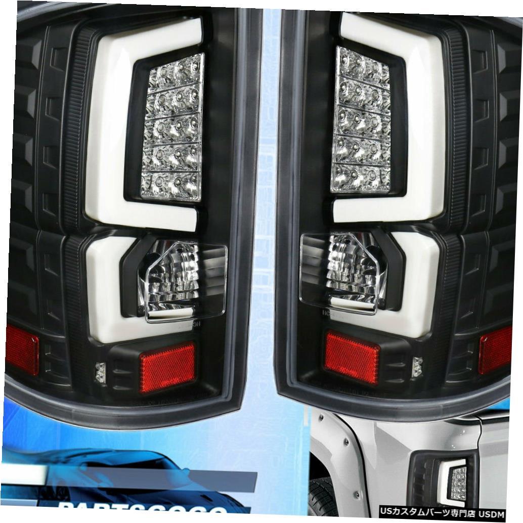 テールライト 2014-2018 Gmc Sierra 1500 2500チューブLedテールライトブラックハウジングクリアレンズ For 2014-2018 Gmc Sierra 1500 2500 Tube Led Tail Light Black Housing Clear Lens