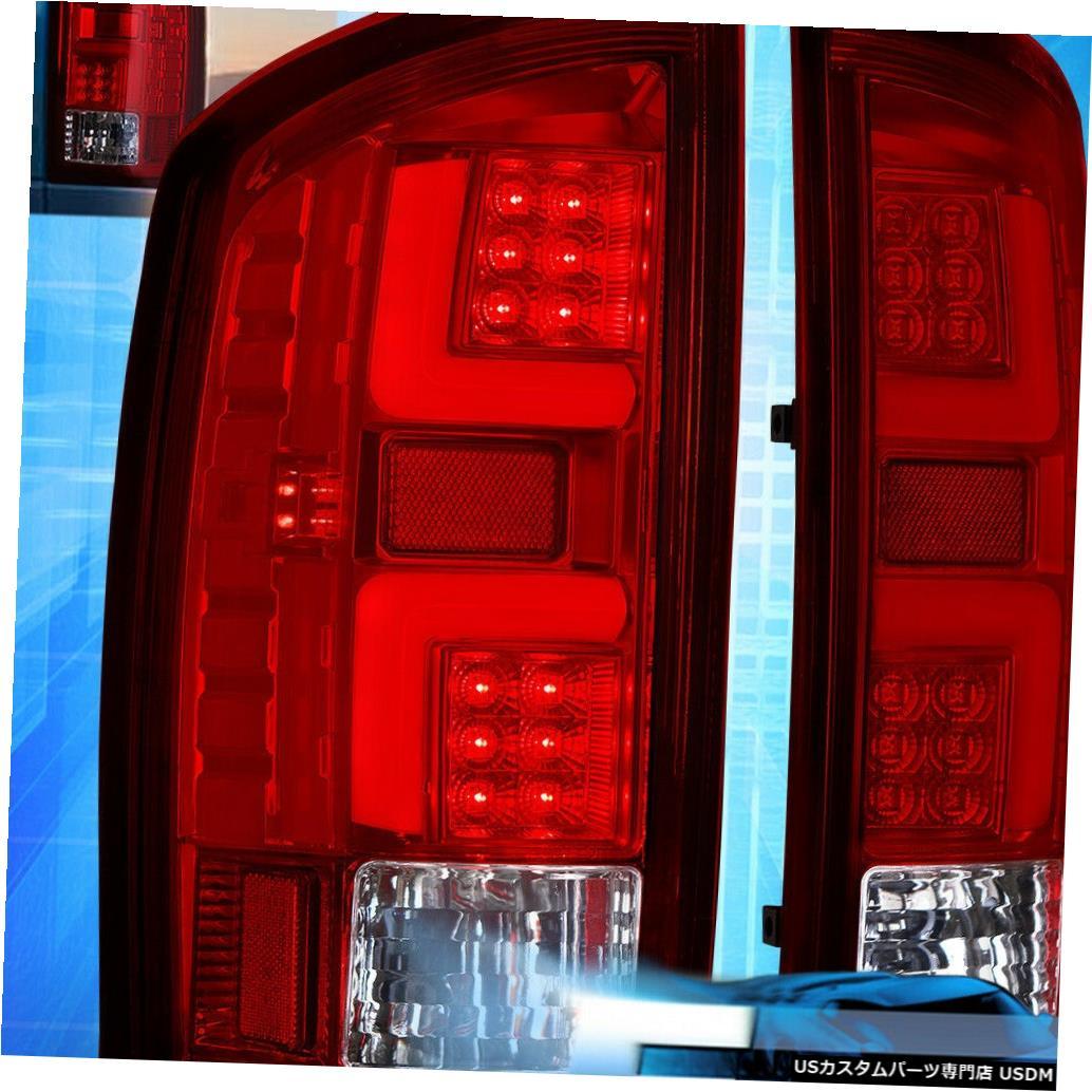 テールライト 02-06ダッジラム1500 2500 3500赤交換LEDブレーキテールライトランプ For 02-06 Dodge Ram 1500 2500 3500 Red Replacement LED Brake Tail Lights Lamps