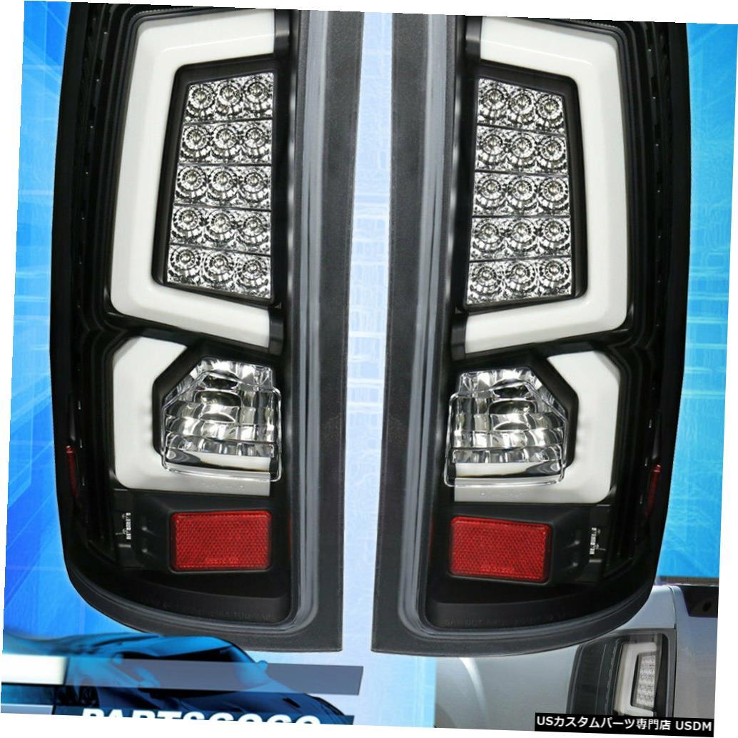 テールライト 07-13 Gmc Sierra 1500 HD C-Streak Ledブレーキテールライトブラッククリアランプ用 For 07-13 Gmc Sierra 1500 HD C-Streak Led Brake Tail Lights Black Clear Lamps
