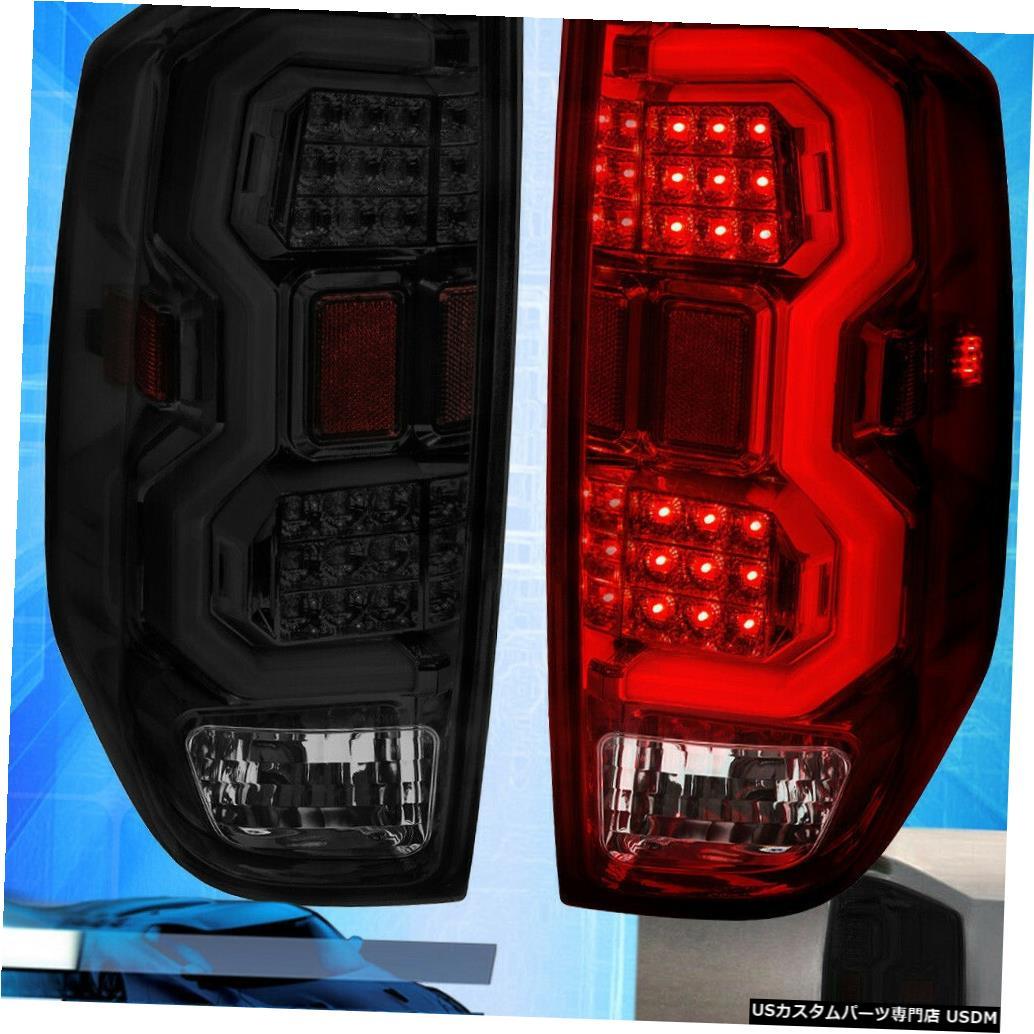 テールライト 14-20ツンドラクロームハウジング煙レンズテールライトホワイトチューブLed交換用 For 14-20 Tundra Chrome Housing Smoke Lens Tail Light White Tube Led Replacement