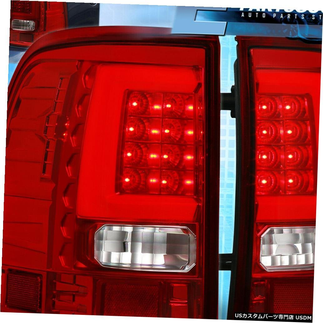 テールライト 2002年2003年2004年2005年フォードエクスプローラー白色LEDチューブ用レッドテールライトブレーキランプ Red Tail Lights Brake Lamps For 2002 2003 2004 2005 Ford Explorer White Led Tube