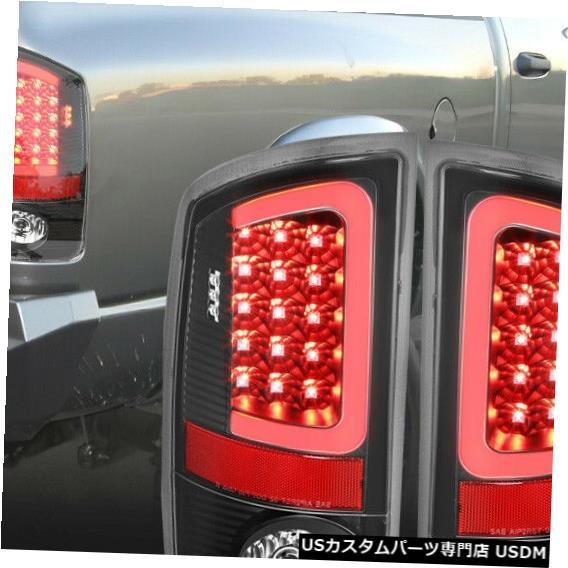 テールライト Fits 2007-2009 Dodge Ram <NEON TUBE LED C-BAR> Black/Clear Brake Lamp Tail Light