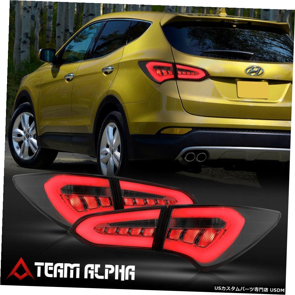 <title>車用品 バイク用品 >> パーツ ライト ランプ ブレーキ テールランプ おしゃれ テールライト Fits 2013-2016 Hyundai Santa Fe <NEON TUBE LED BAR> Smoke Brake Lamp Tail Light</title>