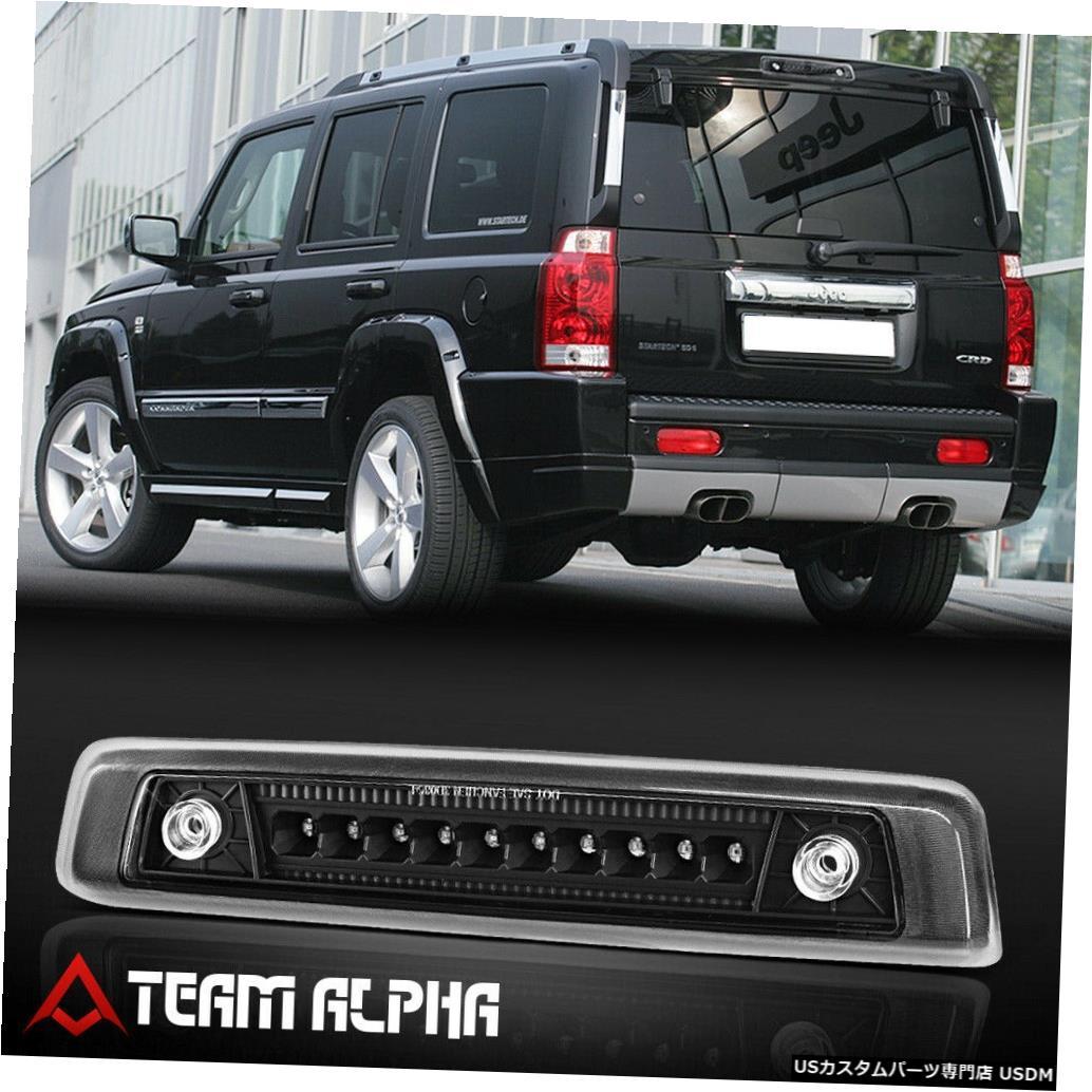 テールライト 2006-2010ジープコマンダーに適合[ブラック/クリア] LED 3番目3ブレーキライトテールランプ Fits 2006-2010 Jeep Commander [Black/Clear] LED Third 3rd Brake Light Tail Lamp