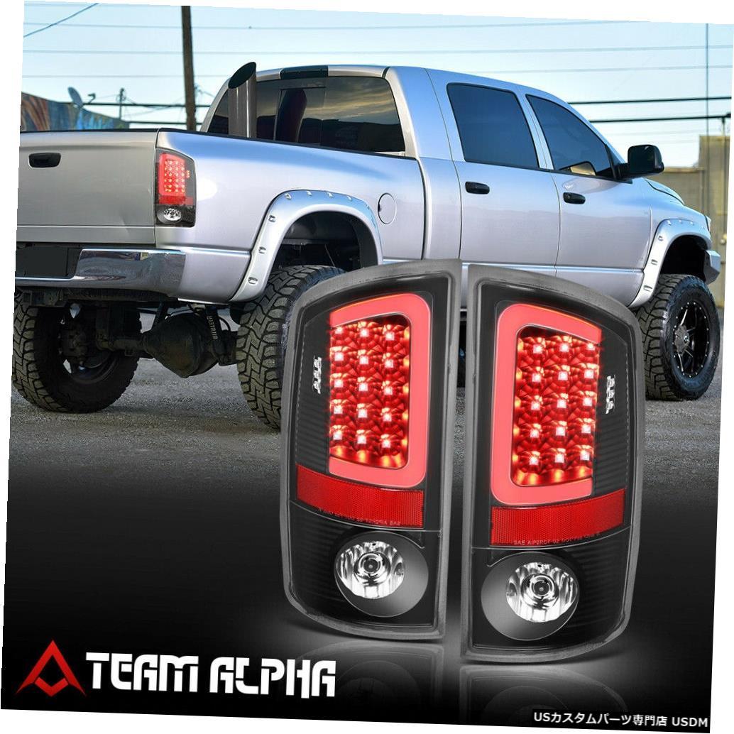 テールライト Fits 2007-2009 Dodge Ram <LED RED C-BAR> Black/Clear Brake Lamp Rear Tail Light