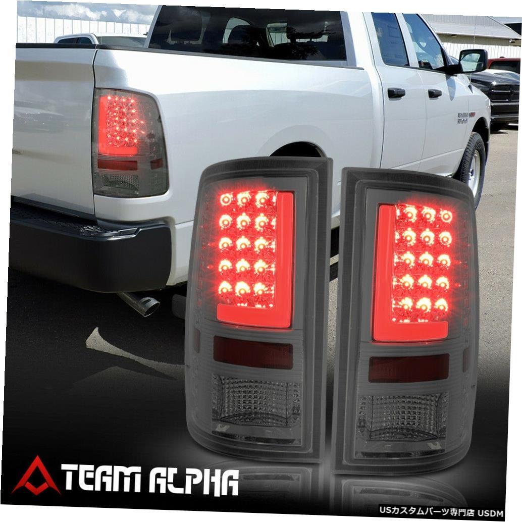 テールライト Fits 2009-2017 Dodge Ram <LED RED L-BAR> Chrome/Smoke Brake Lamp Rear Tail Light