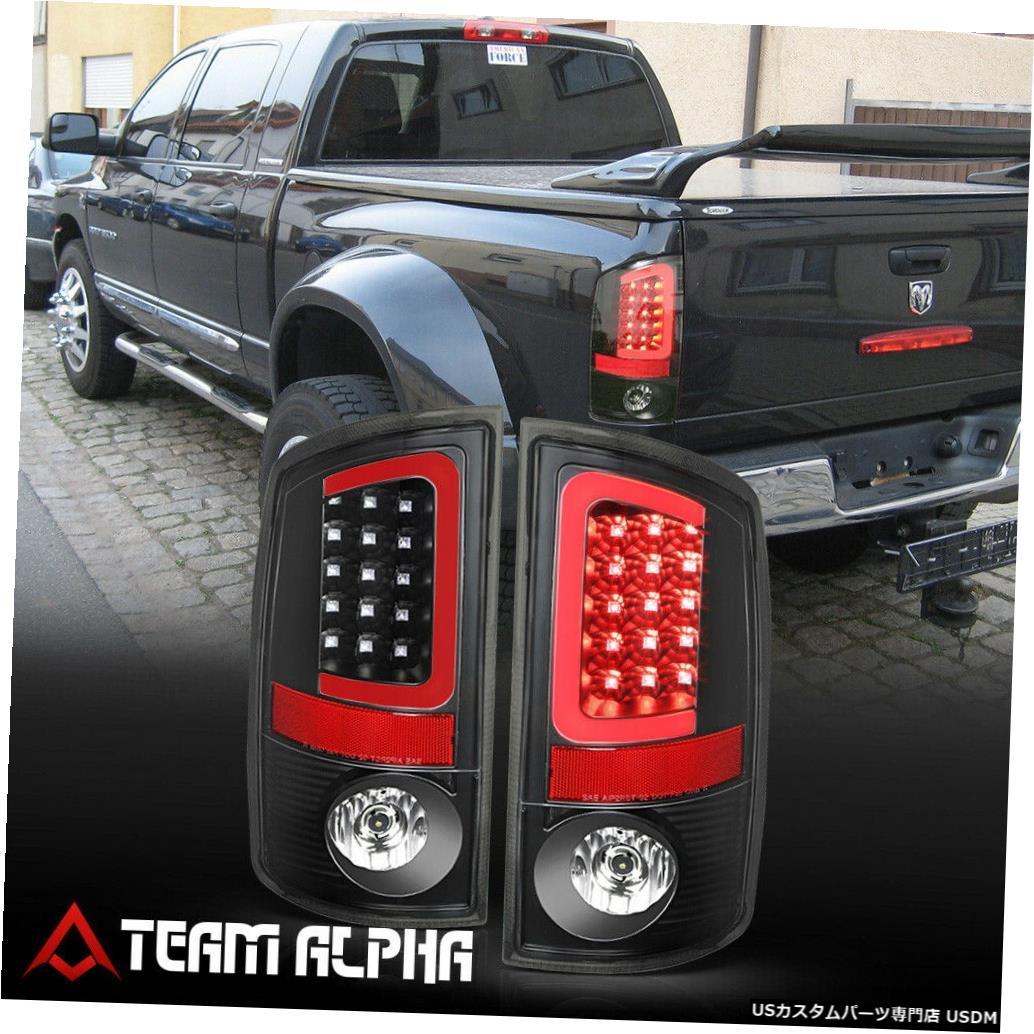 テールライト Fits 2002-2006 Dodge Ram <LED RED C-BAR> Black/Clear Brake Lamp Rear Tail Light