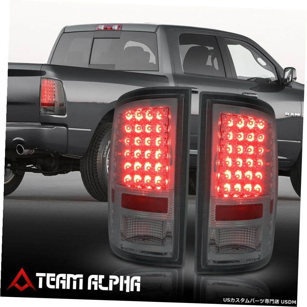 テールライト Fits 2009-2017 Dodge Ram 1500/2500 <FULL LED> Chrome/Smoke Brake Lamp Tail Light