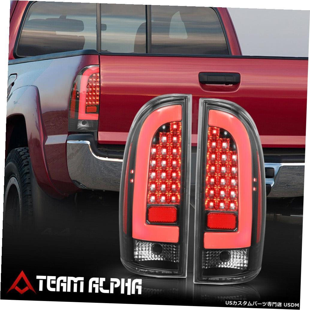 テールライト Fits 2005-2015 Toyota Tacoma <NEON TUBE LED C-BAR> Black/Clear Tail Light Lamp