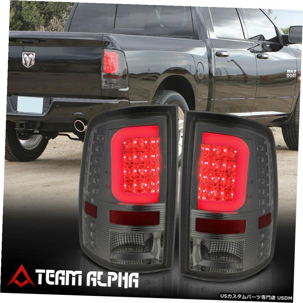 テールライト Fits 2009-2017 Dodge Ram <LED RED C-BAR> Chrome/Smoke Brake Lamp Rear Tail Light