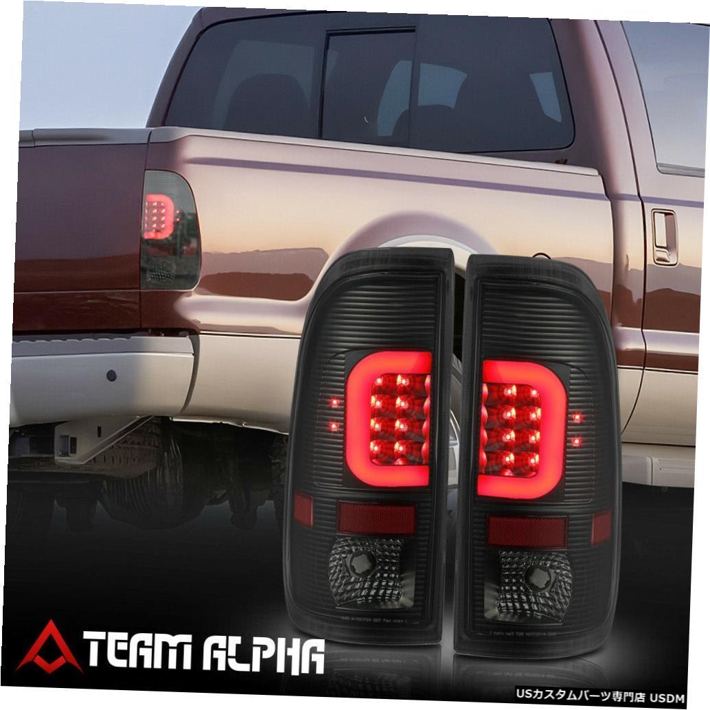 テールライト Fits 2008-2016 F250/F350/F450 SD<RED LED C-BAR>Black/Smoke Brake Lamp Tail Light