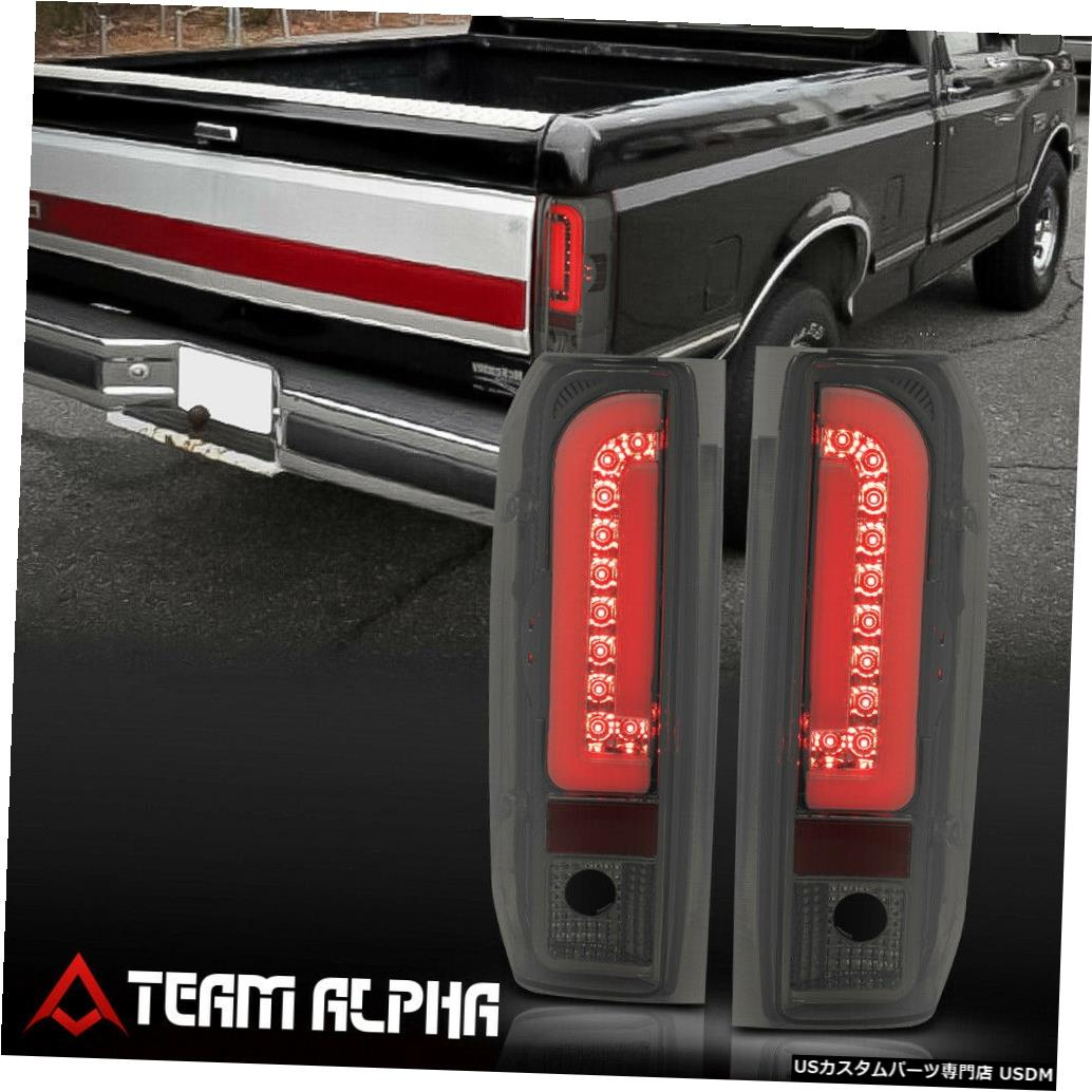 テールライト Fits 1990-1997 F150/F250/Bronco<NEON TUBE LED C-BAR>Chrome/Smoke Tail Light Lamp