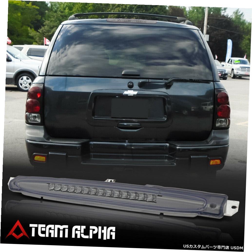 テールライト 2002?2009年のTrailblazer / Envoyに適合[Chrome / Smoke] LED 3番目の3番目のテールブレーキライト Fits 2002-2009 Trailblazer/Envoy [Chrome/Smoke] LED Third 3rd Tail Brake Light