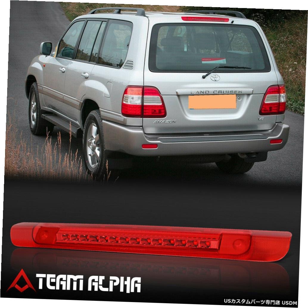 テールライト 1998-2007ランドクルーザーに適合[クローム/レッド]フルLED 3番目3ブレーキライトテールランプ Fits 1998-2007 Land Cruiser [Chrome/Red]Full LED Third 3rd Brake Light Tail Lamp
