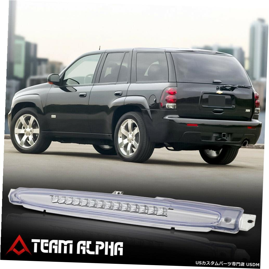 テールライト 2002?2009年のTrailblazer / Envoy [Chrome / Clear]に適合LED 3番目の3番目のテールブレーキライト Fits 2002-2009 Trailblazer/Envoy [Chrome/Clear] LED Third 3rd Tail Brake Light