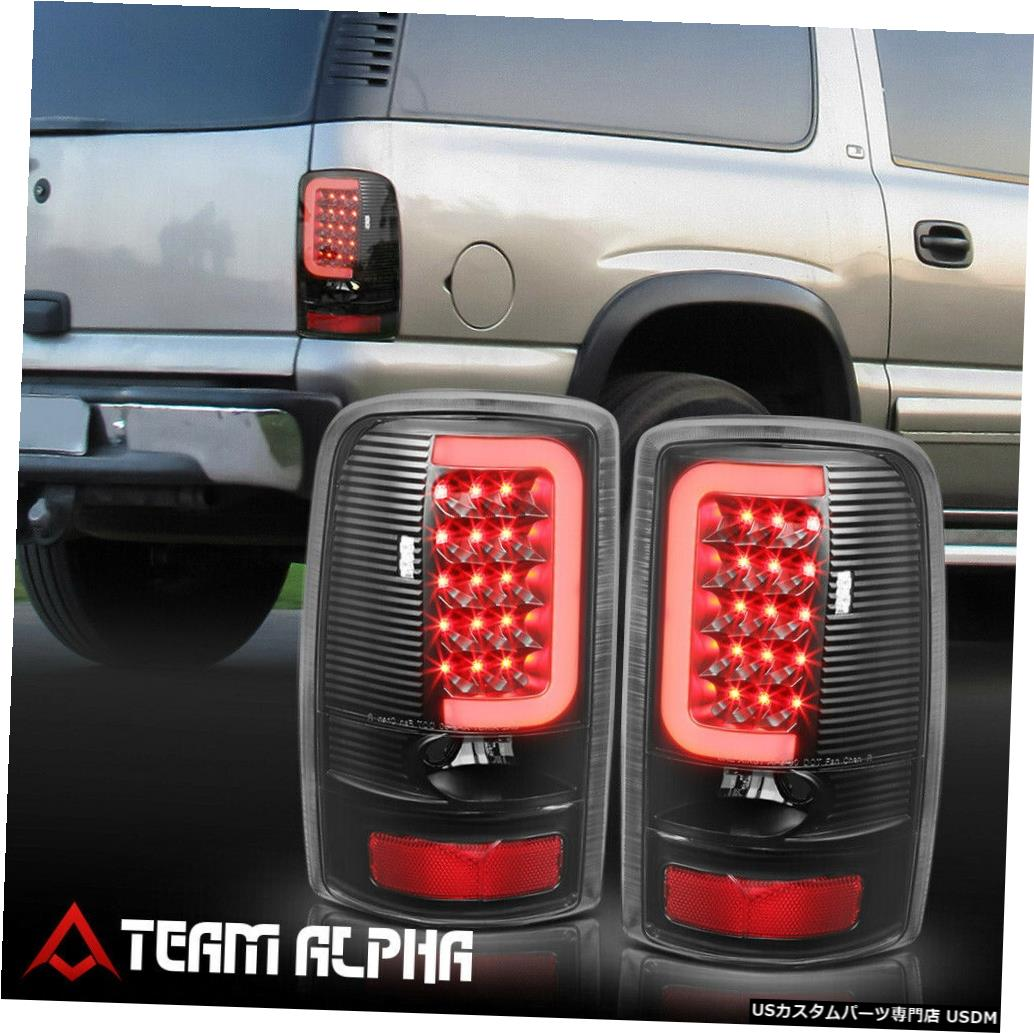 テールライト Fits 2000-2006 Suburban/Tahoe/Yukon <NEON TUBE LED C-BAR> Black/Clear Tail Light