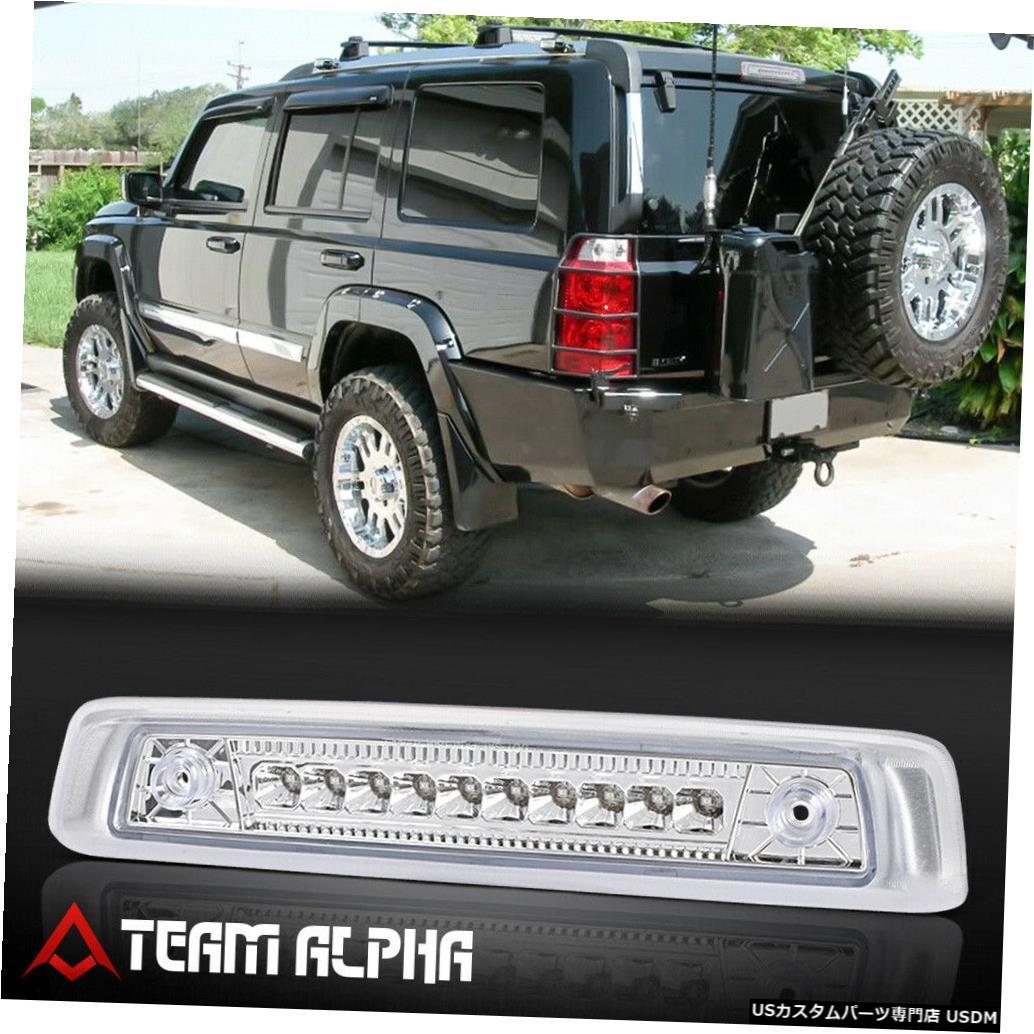 テールライト 2006-2010ジープコマンダーに適合[クローム/クリア] LED第3ブレーキライトテールランプ Fits 2006-2010 Jeep Commander [Chrome/Clear] LED Third 3rd Brake Light Tail Lamp