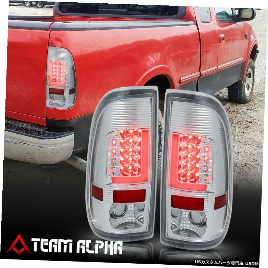 テールライト Fits 1999-2007 F150/F250 Styleside <NEON TUBE LED L-BAR> Chrome/Clear Tail Light