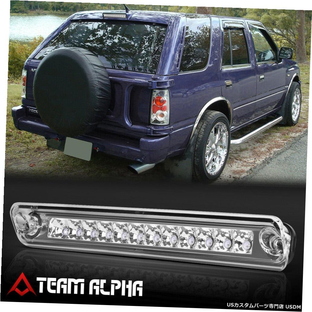テールライト 1993-1997パスポート/ロデオ[クローム/クリア]に適合LED 3番目3番目のブレーキライトテールランプ Fits 1993-1997 Passport/Rodeo [Chrome/Clear] LED Third 3rd Brake Light Tail Lamp