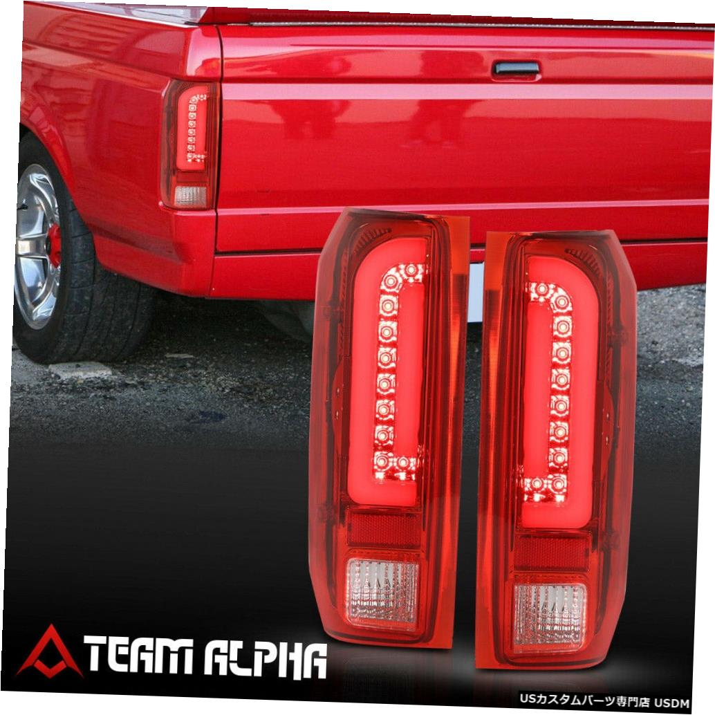 テールライト Fits 1990-1997 F150/F250/Bronco <NEON TUBE LED C-BAR> Chrome/Red Tail Light Lamp