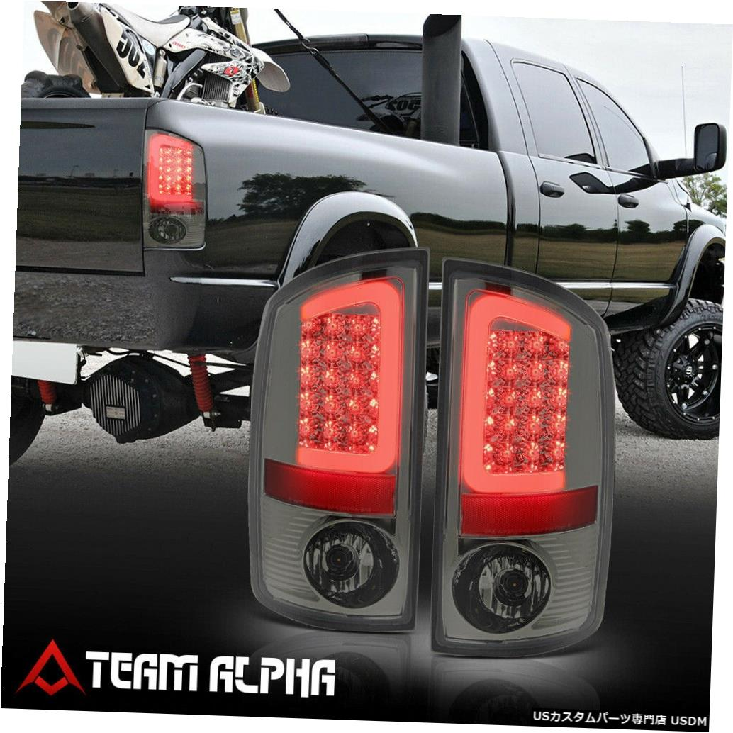 テールライト Fits 2002-2006 Dodge Ram<NEON TUBE LED C-BAR>Chrome/Smoke Brake Lamp Tail Light