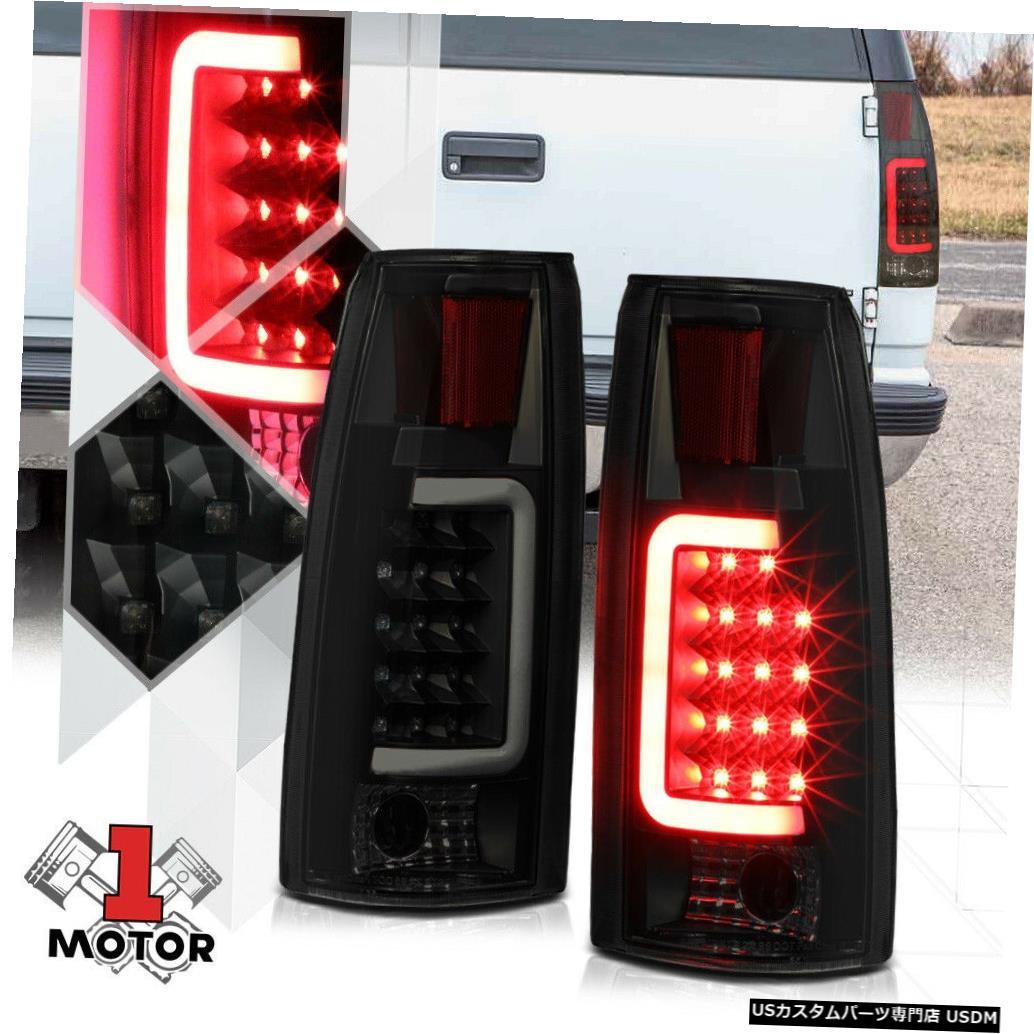 テールライト ブラック/スモーク* TRON LED BAR * 88-00 C10エスカレード用3Dネオンチューブテールライトランプ Black/Smoked *TRON LED BAR* 3D Neon Tube Tail Light Lamp for 88-00 C10 Escalade