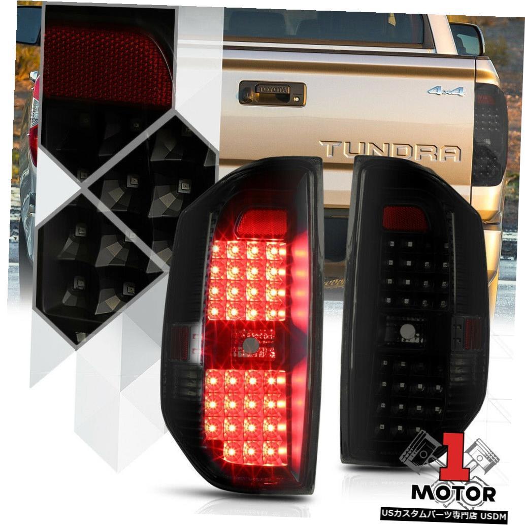 テールライト 14-18トヨタツンドラ用ブラックハウジングスモークレンズ*フルLED *テールライトブレーキランプ Black Housing Smoke Lens*FULL LED*Tail Light Brake Lamp for 14-18 Toyota Tundra