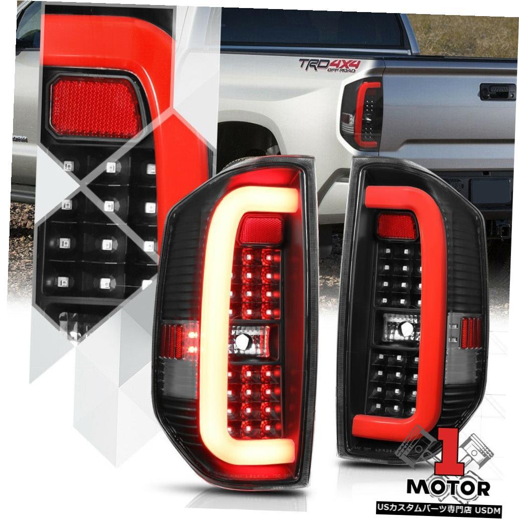 テールライト ブラック/クリア* TRON LED BAR * 14-18トヨタツンドラ用3DレッドCネオンテールライトランプ Black/Clear *TRON LED BAR* 3D Red-C Neon Tail Light Lamp for 14-18 Toyota Tundra