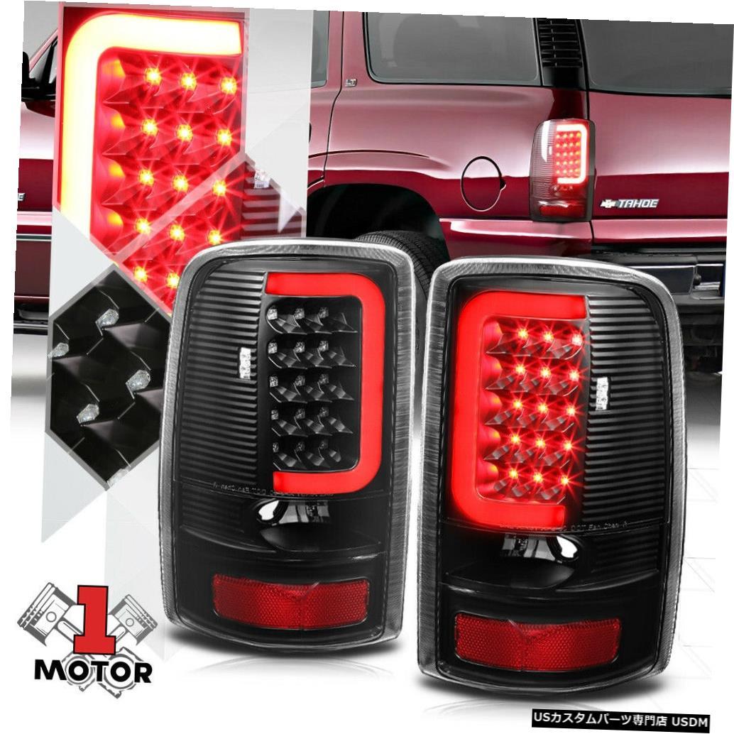 テールライト ブラック/クリア* TRON LED BAR * 00-06 GMC Yukon / Suburban用3D Red-Cネオンテールライト Black/Clear *TRON LED BAR* 3D Red-C Neon Tail Light for 00-06 GMC Yukon/Suburban