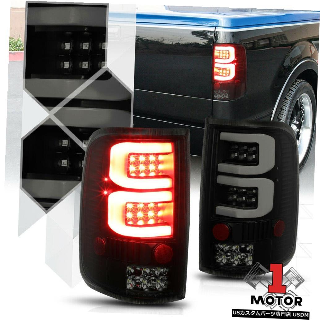 テールライト 04/08フォードF150 /ロボ用ブラック/スモーク*トロンLEDバー* 3Dネオンチューブテールライトランプ Black/Smoked*TRON LED BAR*3D Neon Tube Tail Light Lamp for 04-08 Ford F150/Lobo