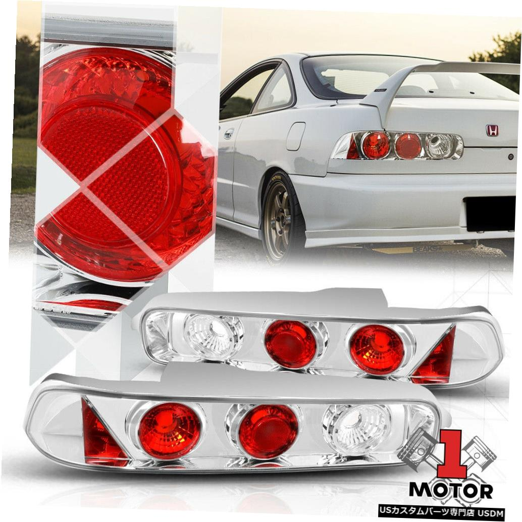 テールライト Chrome / Red * EURO ALTEZZA * 94-01 Acura Integra HB用テールライトリアブレーキランプ Chrome/Red *EURO ALTEZZA* Tail Light Rear Brake Lamp for 94-01 Acura Integra HB