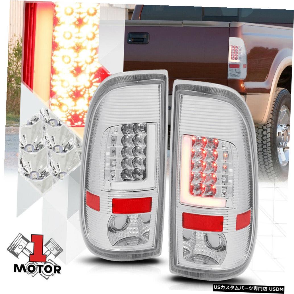 テールライト クローム/クリア* TRON LED BAR * 08-16 Super Duty SD F350用3Dネオンチューブテールライト Chrome/Clear *TRON LED BAR* 3D Neon Tube Tail Light for 08-16 Super Duty SD F350