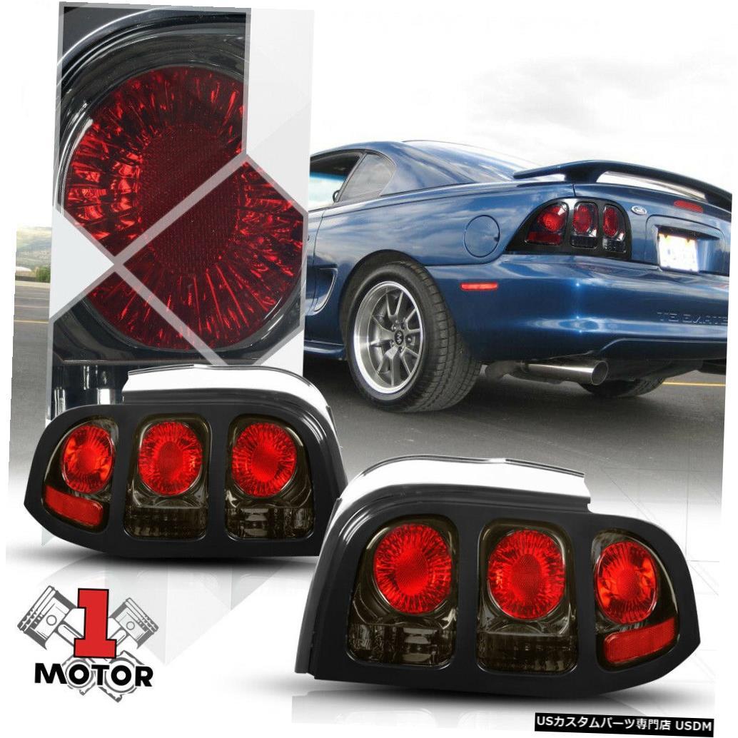テールライト クロム/スモーク* EURO ALTEZZA * 94-98フォードマスタング用テールライトリアブレーキランプ Chrome/Smoked *EURO ALTEZZA* Tail Light Rear Brake Lamp for 94-98 Ford Mustang