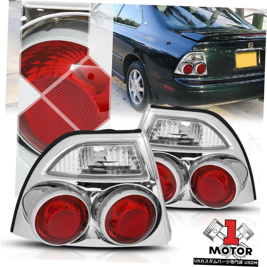テールライト クロームハウジングクリアレンズ* 3D ALTEZZA * 94-97アコード用テールライトブレーキランプ Chrome Housing Clear Lens *3D ALTEZZA* Tail Light Brake Lamp for 94-97 Accord