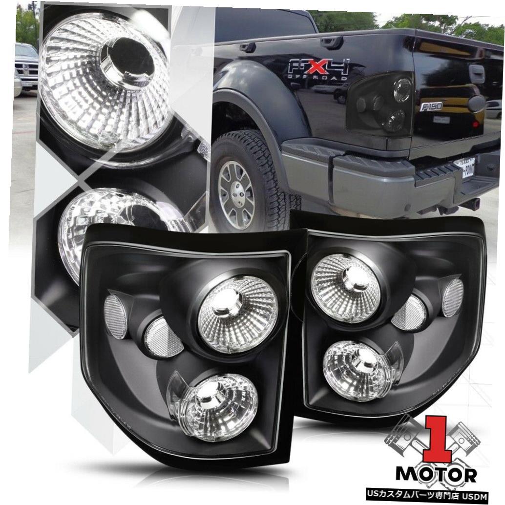 テールライト ブラック/クリア* EURO ALTEZZA * 04-08 Ford F150 Flareside用テールライトブレーキランプ Black/Clear *EURO ALTEZZA* Tail Light Brake Lamp for 04-08 Ford F150 Flareside