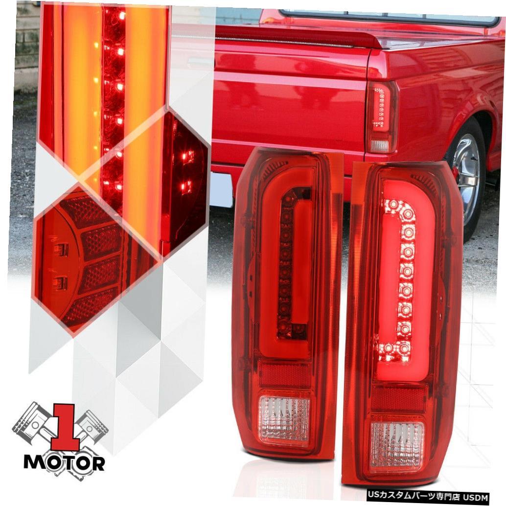 テールライト 90-97 F150 / F250 / Bronco向けChrome / Red * TRON LED BAR * 3Dネオンチューブテールライトランプ Chrome/Red*TRON LED BAR*3D Neon Tube Tail Light Lamp for 90-97 F150/F250/Bronco
