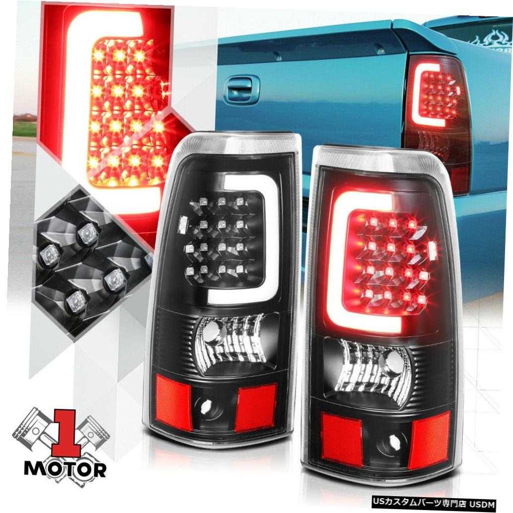 テールライト 03-07シルバラードフリートサイド用ブラック/クリア* TRON LED BAR * 3Dネオンチューブテールライト Black/Clear *TRON LED BAR* 3D Neon Tube Tail Light for 03-07 Silverado Fleetside