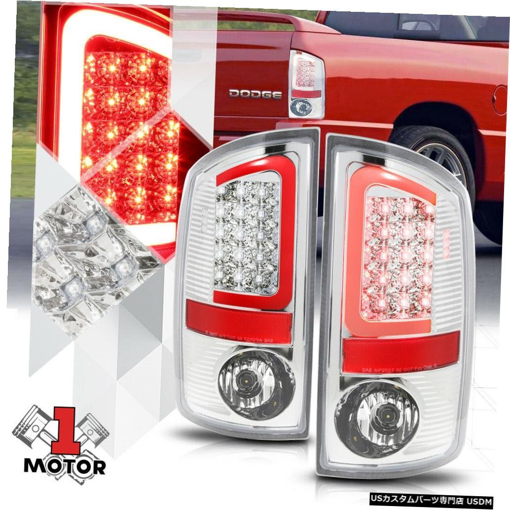 テールライト クロム/クリア* TRON LED BAR * 07-09 Ram用3D Red-Cネオンテールライトブレーキランプ Chrome/Clear *TRON LED BAR* 3D Red-C Neon Tail Light Brake Lamp for 07-09 Ram